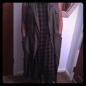 Sleeveless jacket with sleeveless dress